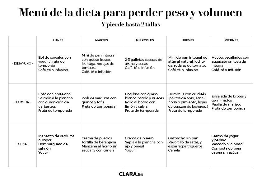 Baja Hasta Dos Tallas Con La Dieta Para Perder Peso Y Volumen