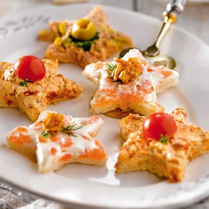 Recetas de canap s variados de at n salm n y tomate - Canapes frios faciles de hacer ...