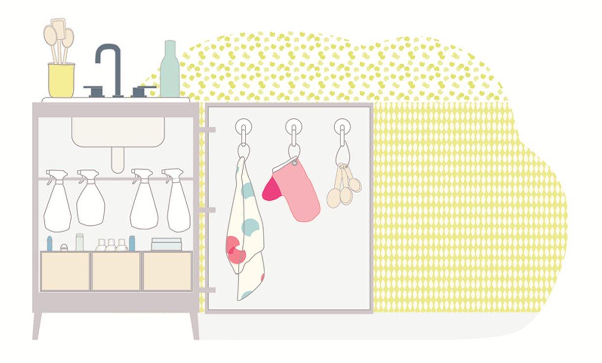 Trucos para organizar la cocina y el baño y ganar espacio