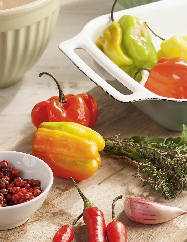 Pimiento. Pimiento, vitamina C y fibra