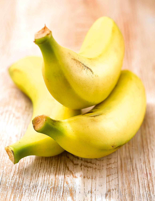 Plátano. Plátano, rico en magnesio y potasio