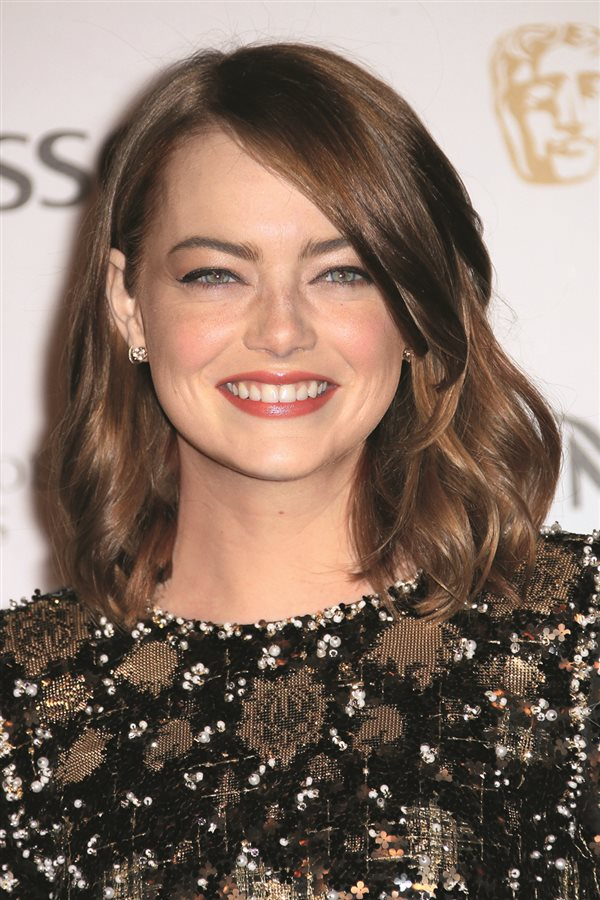 Pelazo celebrities Emma Stone. Corte shaggy