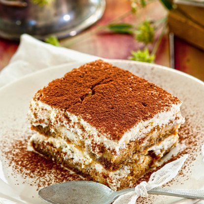 Receta de tiramisú light