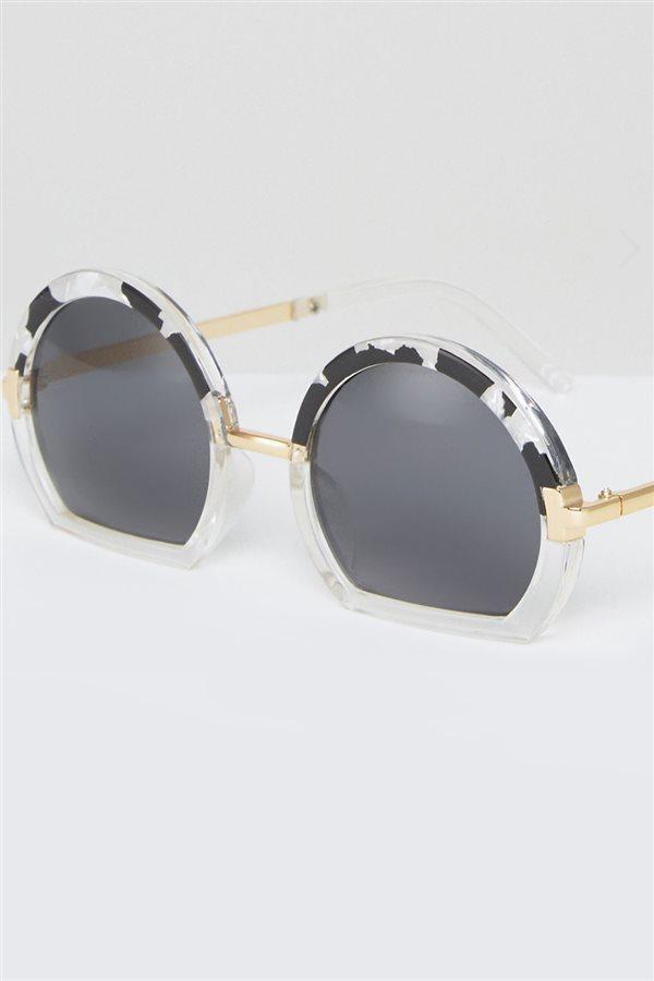Asos gafas de sol redondas con detalle en la parte inferior 33dafacf00cc