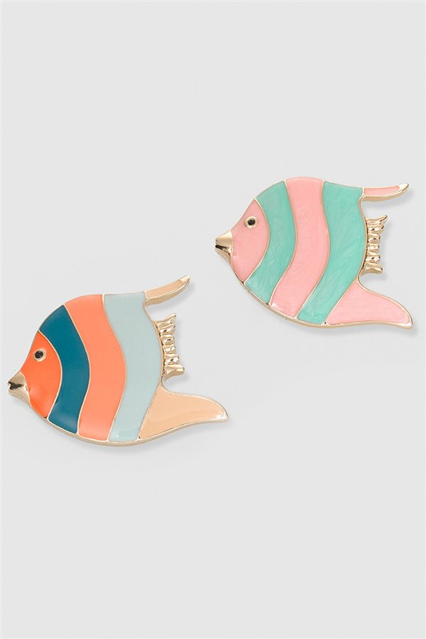 broches-peces. Set de broches peces multicolor