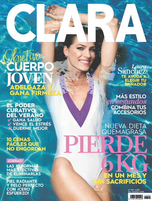 laura sanchez portada julio revista clara