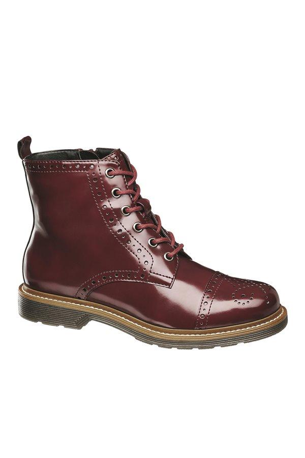 56d688eefe672 zapatos baratos otoño invierno 2018 low cost 03. Bota burdeos