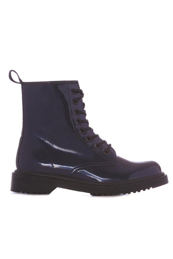 9be8a066fb33b zapatos baratos otoño invierno 2018 low cost 04. Bota azul metálico