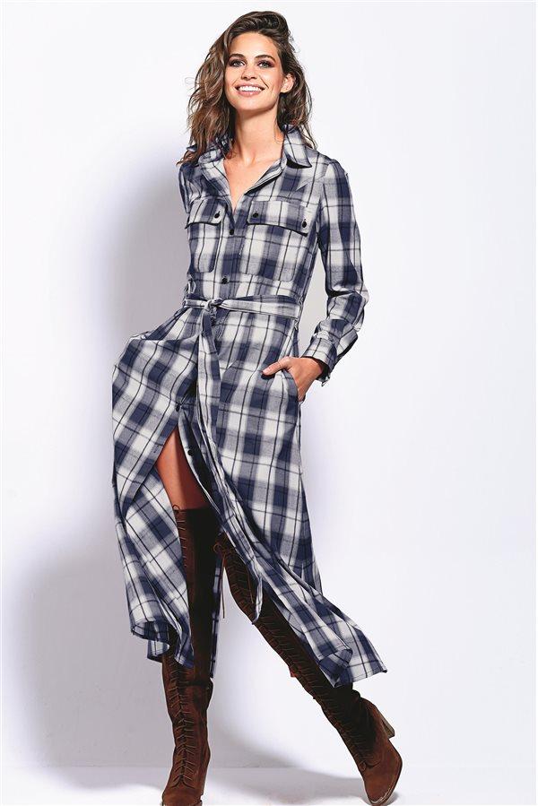 9d084e8fa0275 moda mujer vestidos baratos otoño invierno 2018 low cost 03. Vestido de  cuadros