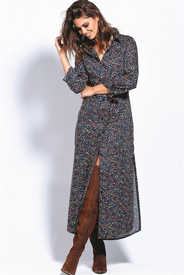Vestido camisero largo barato