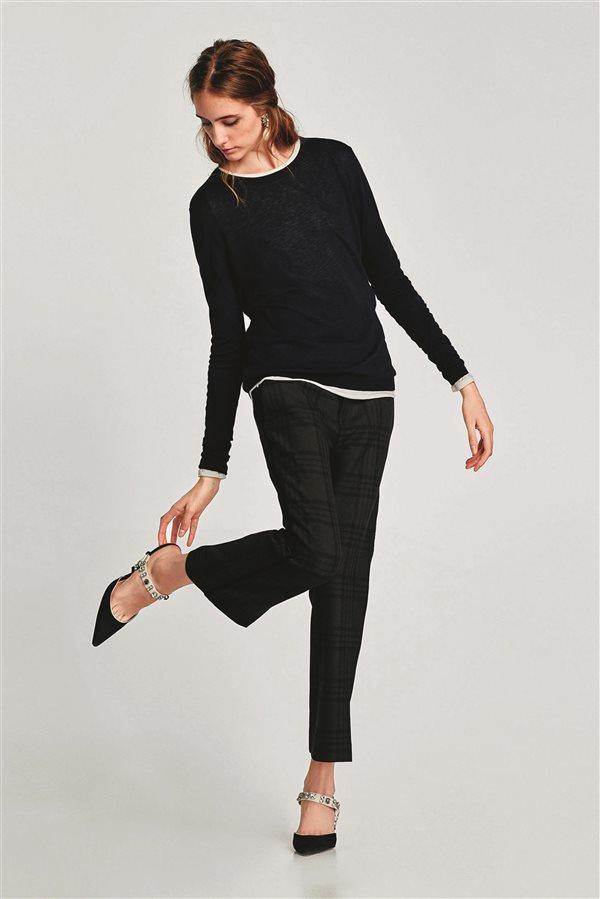 f7341873f6 moda mujer look clasico otoño invierno 2018 zara pantalon 39