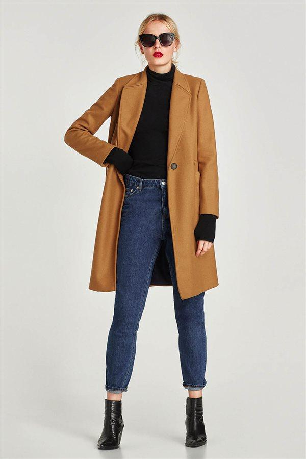 ropa mujer look urbano otoño invierno 2018 zara ABRIGO MASCULINO LANA  DETALLE 79 58a43cba311f