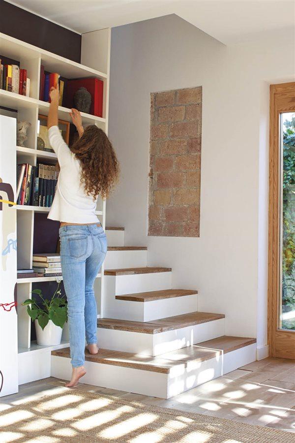 Escaleras Que Ocupan Poco Espacio Top Con Una Escalera De