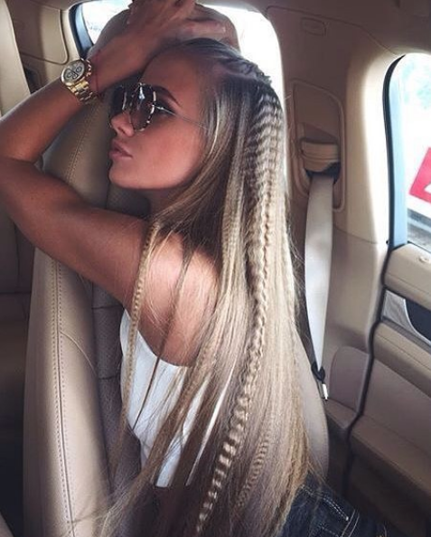 crimped hair trenzas peinado