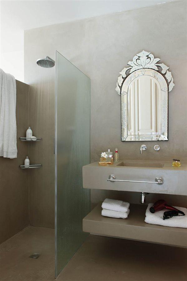 15 buenas ideas para ba os peque os for Imagenes de banos pequenos con ducha