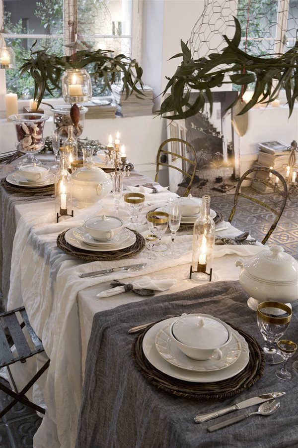 15 mesas de navidad llenas de ideas para que decores t misma la tuya - Manteles mesas grandes ...