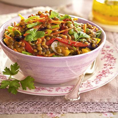 Dieta ensalada de lentejas