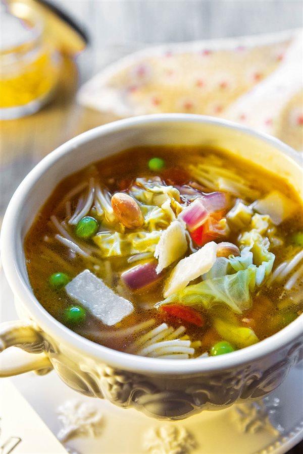 Recetas de sopas bajas en calorias y grasas