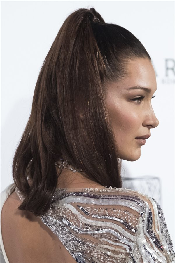 bad day hair bella hadid. Coleta alta