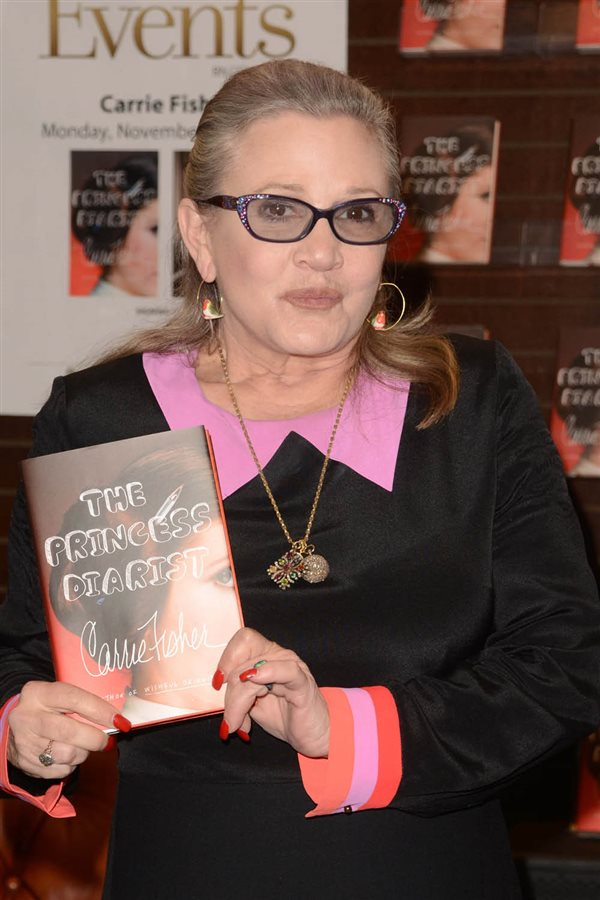 famosas con depresion4. Carrie Fisher