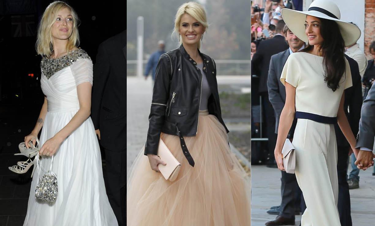 Vestidos de famosas invitadas en bodas