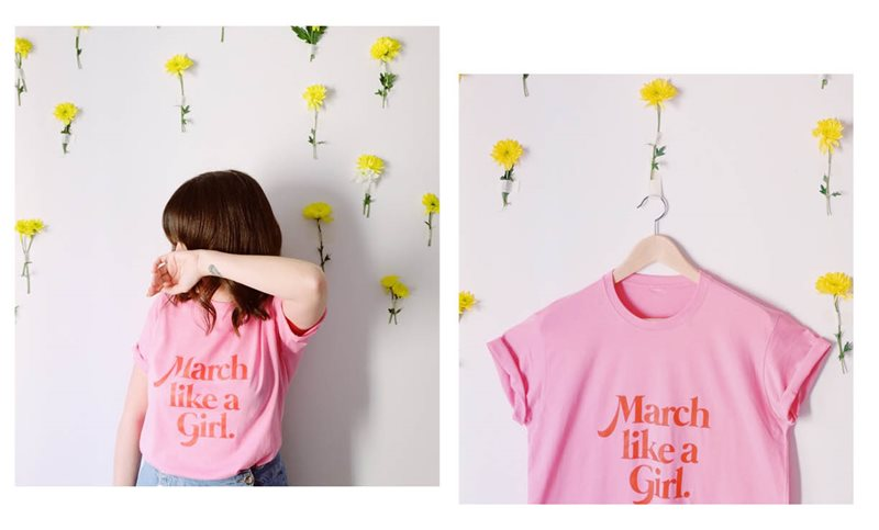 march like a girl