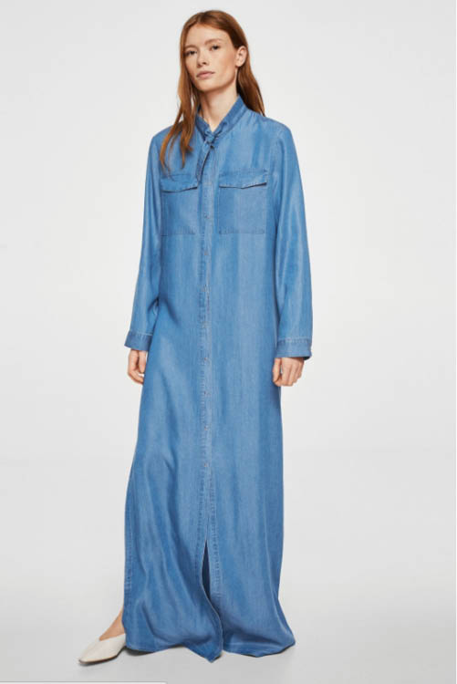 vestidos largos 2018 Mango 55,99€ denim. Denim