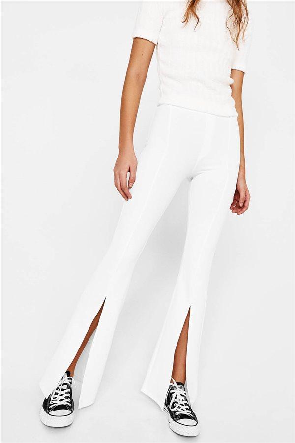 pantalones blanco abierto low cost primavera verano 2018. Inmaculados ced0c6908a46