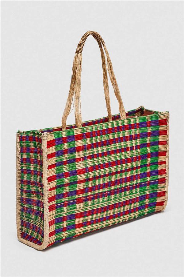 5f4e9858d40 bolsos rafia mimbre paja2. Multicolor