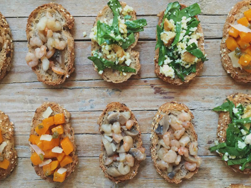 delicious martha tres versiones de crostinis