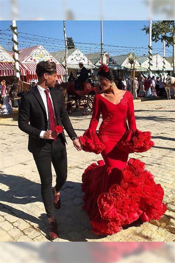 Combinar vestido flamenca negro