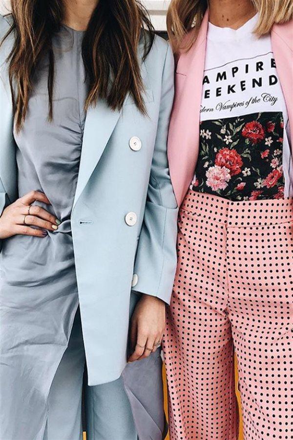 20 ideas para vestir con colores pastel