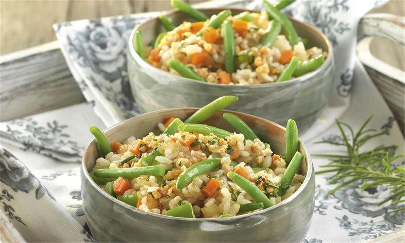arroz integral con verduras temporada