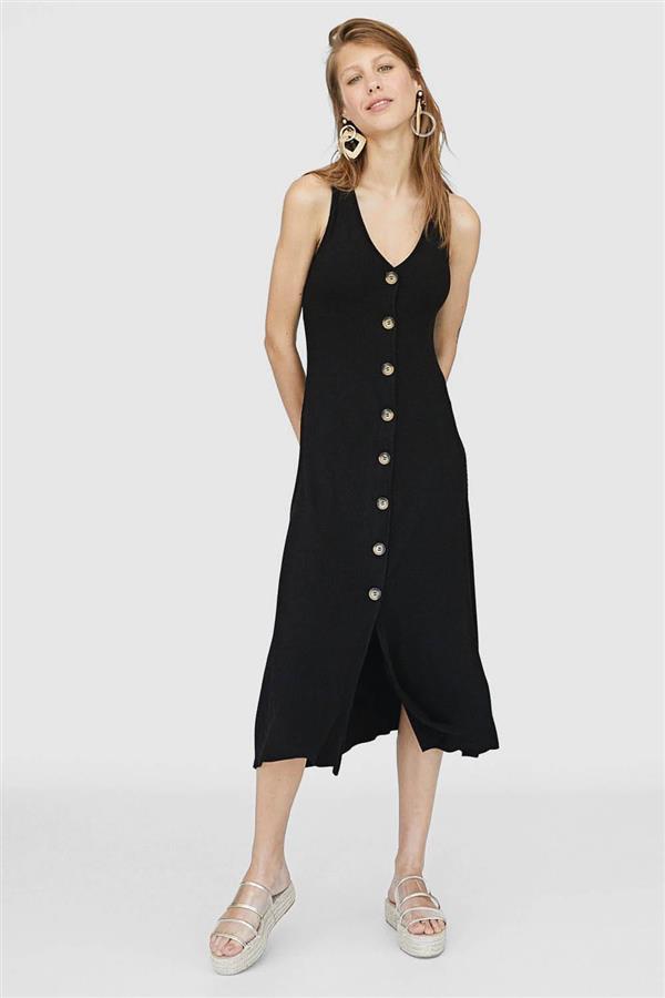 e79f4ead56 vestidos baratos mujer verano 2018 midi botones stradivarius 25