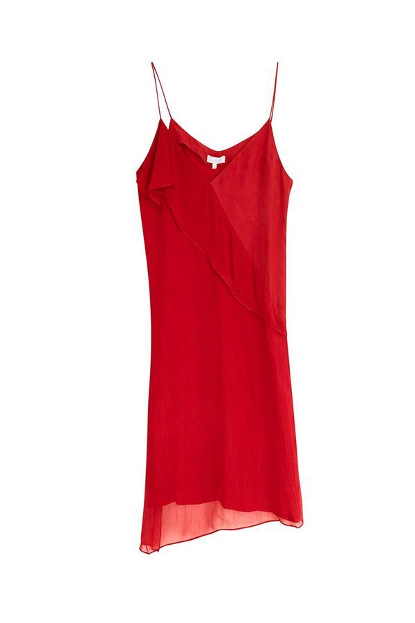 d3844fda48 vestido rojo intropia volante cruzado. Un vestido para ir a cenar