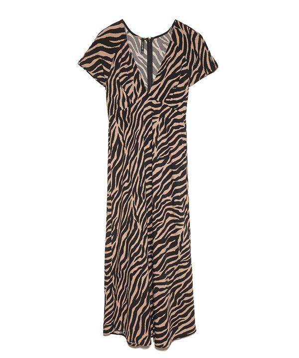 9647d2976b vestido tipo zebra stradivarius midi. Vestido con estampado animal
