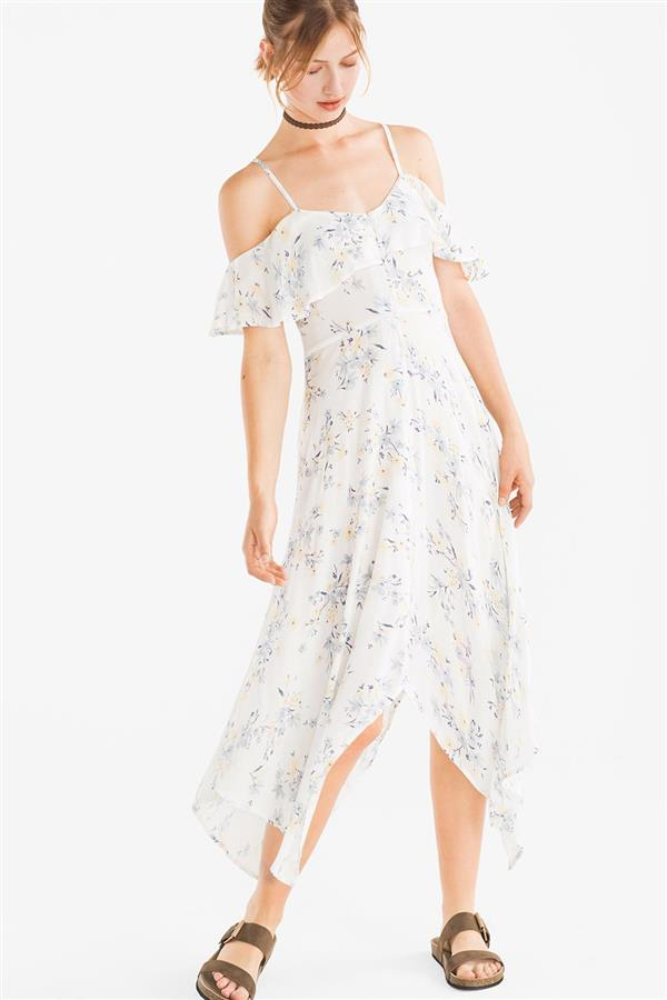 Vestido blanco mujer c&a