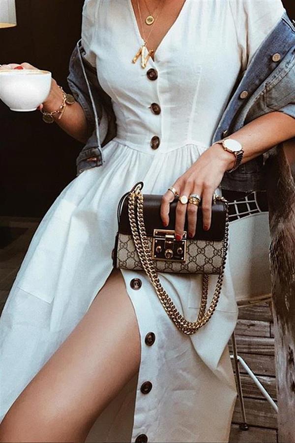 Vestido blanco de zara con botones