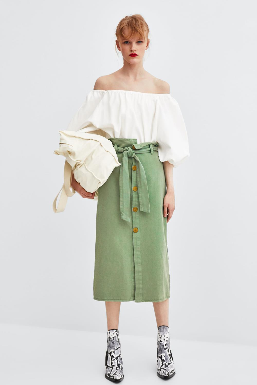 7d5c12a21b faldas verano verde zara Paper Bag. Paper Bag