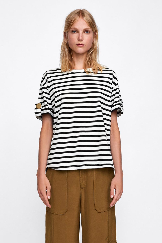 cupón de descuento selección premium la mejor calidad para Las mejores camisetas de rayas de Zara Mango Bershka ...