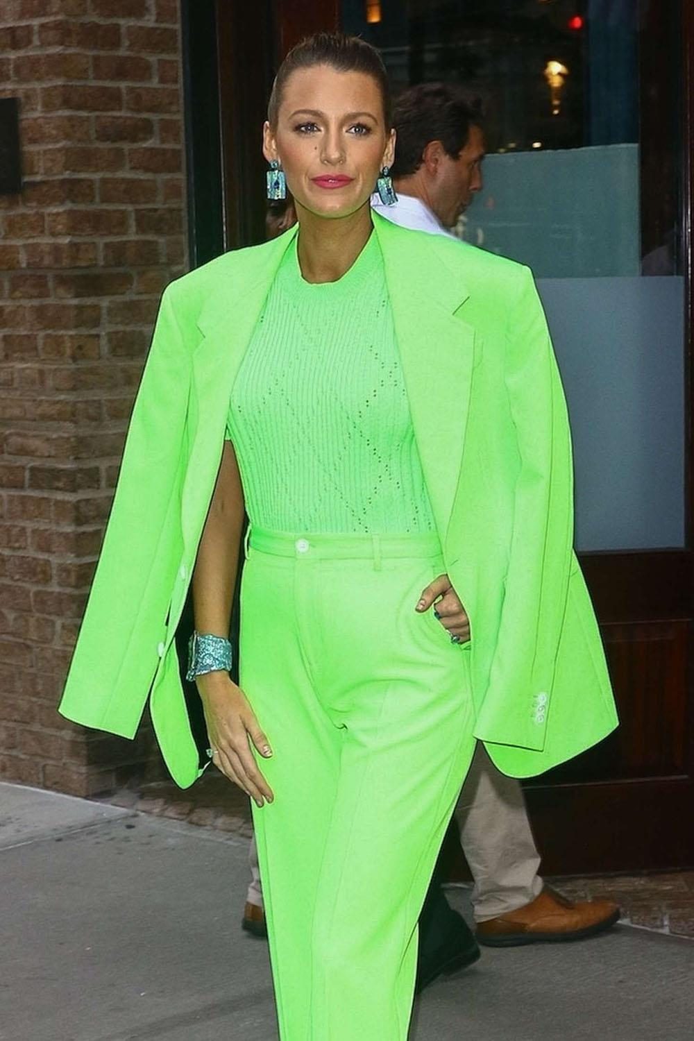blake-lively-green-dress. Al estilo de Blake Lively