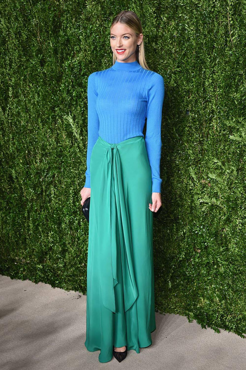 martha-hunt-verde. Al estilo de Martha Hunt