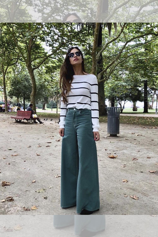 Sara Carbonero lleva los pantalones de campana que necesitas 019fbbe59345