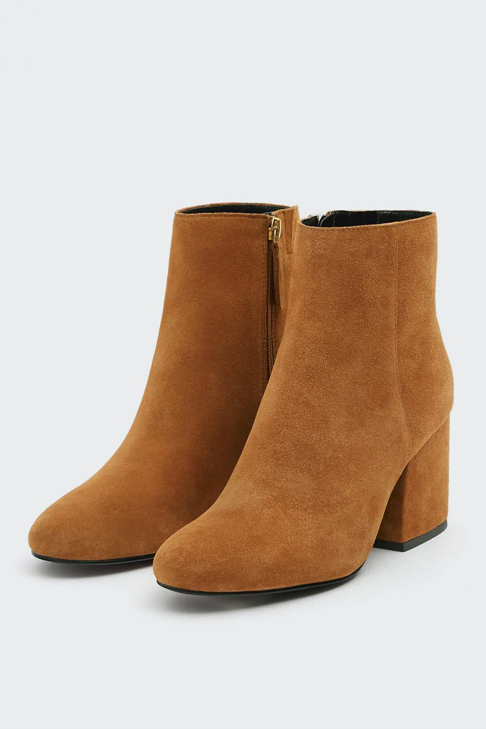 botin serraje marron pull and bear 39,99 euros. Pon color a tus looks