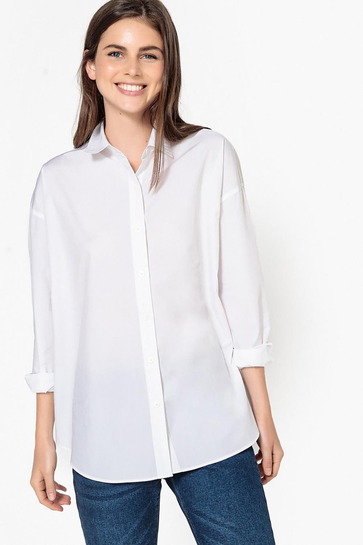 4365bd50e9 levis-camisa-blanca-masculina-mujer. De estructura masculina