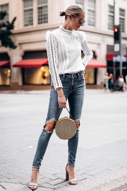 Moda para mujer de rayas verticales camisa casual solapa