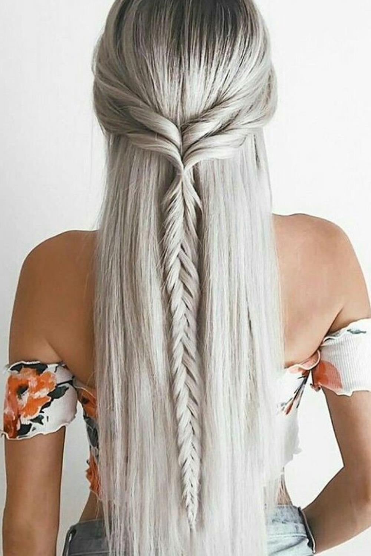 17 peinados con trenzas f ciles - Peinados de semirecogido ...