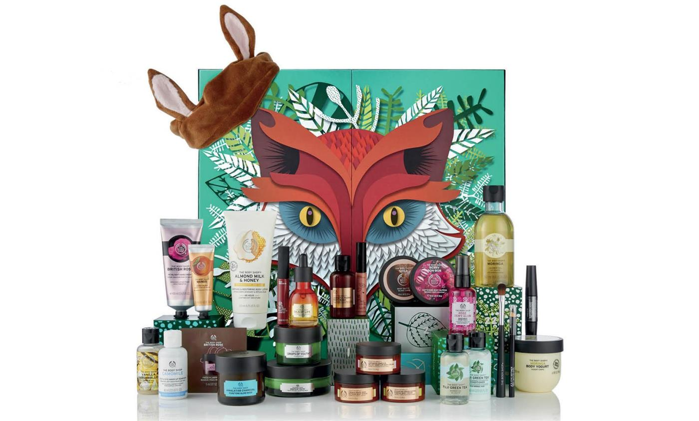 calendario adviento belleza maquillaje cosmetica navidad 2018 2019 the body shop 1. Calendario de adviento, The Body Shop