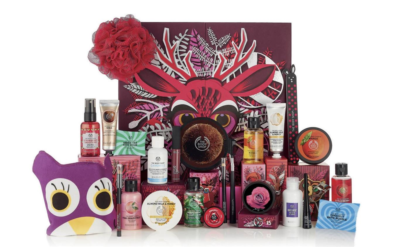 calendario adviento belleza maquillaje cosmetica navidad 2018 2019 the body shop 3. Calendario de adviento, The body shop