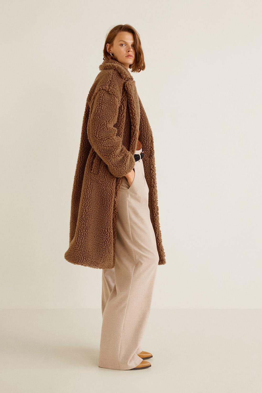 Abrigo teddy de borreguito en dos tonos | ROMWE